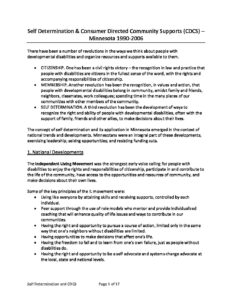 Minnesota's Self Determination Project: FACT SHEET – FREQUENTLY ASKED QUESTIONS ABOUT MINNESOTA'S SELFDETERMINATION PROJECT