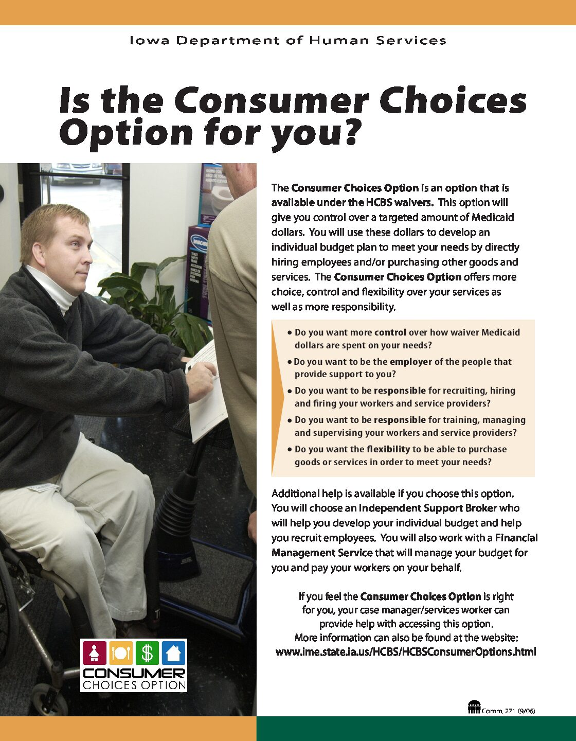 Is the Consumer Choices Option for you?