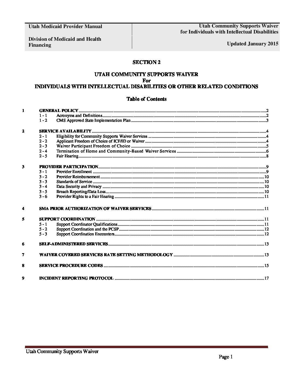 Utah Medicaid Provider Manual