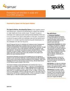 Optum® & The Spark Initiative Whitepaper #3: Promoting self-direction in state and local I/DD programs